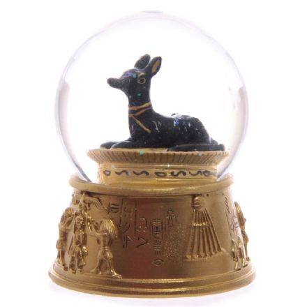 Anubis Egyptian Waterball with Hieroglyphics